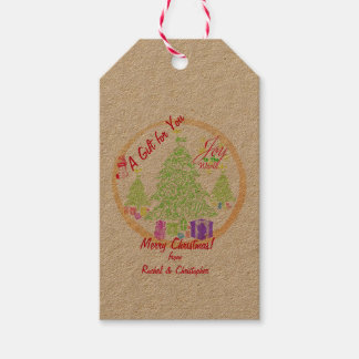 "Christmas ""Joy to the World"" Cookie Gift Tags"