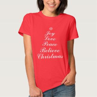 Christmas Joy Tree with Words Shirt