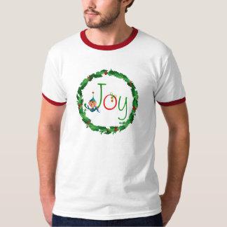 CHRISTMAS JOY& WREATH by SHARON SHARPE T-shirts