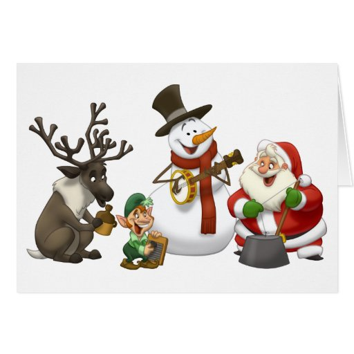 Christmas Jug Band Card (Blank Inside)