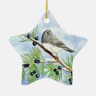 Christmas junco ornament