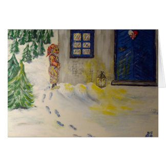 Christmas just round the Corner Greeting Card
