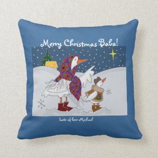 Christmas Kachka (Duck) Ukrainian Folk Art Pillow