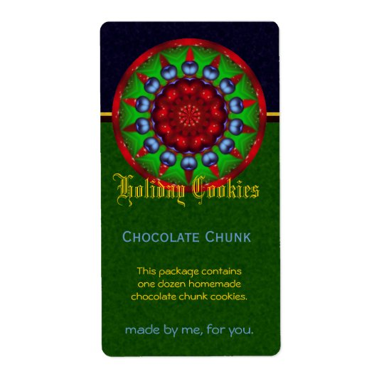 Christmas Kaleidoscope Apothecary Label