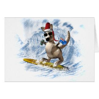 Christmas Kangaroo Greeting Card