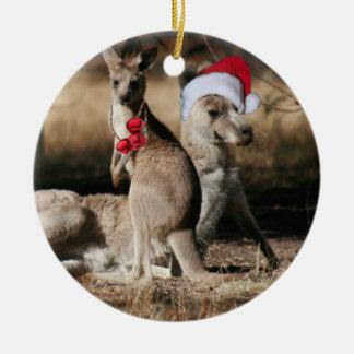 Christmas Kangaroos Australian Style Christmas Ornament