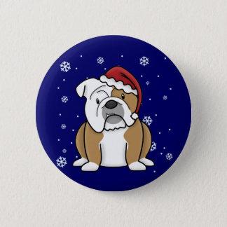 Christmas Kawaii English Bulldog 6 Cm Round Badge