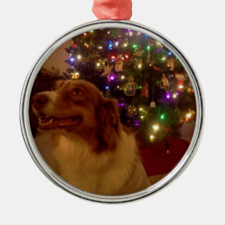 Christmas Keek Silver-Colored Round Decoration