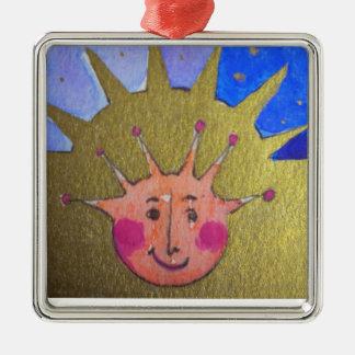 Christmas Kid Premium Square Ornament