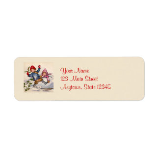 Christmas Kids in Snow Return Address Labels