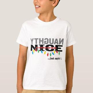 """Christmas Kids T-Shirt """"NAUGHTY choose NICE"""""""