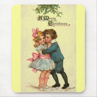 Christmas Kiss Mouse Pad