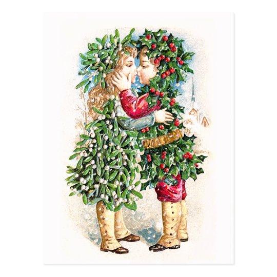 Christmas Kiss Postcard