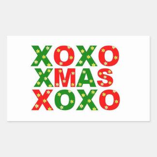 Christmas Kiss Rectangular Sticker