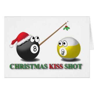 Christmas Kiss Shot greeting card