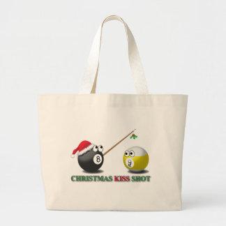 Christmas Kiss Shot tote Bag