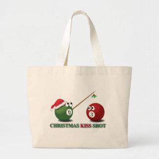 Christmas Kiss Shot tote Canvas Bags