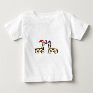 Christmas Kissing Giraffes Baby T-Shirt