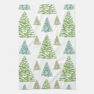 Christmas Kitchen Towel with christmas trees