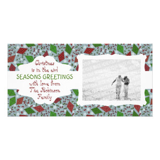 Christmas Kites, customizable photocard Picture Card