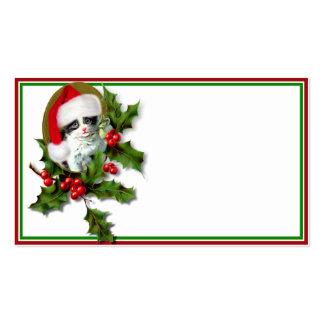 Christmas Kitten Business Card Template