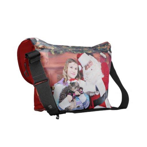 Christmas - Kitten Messenger Bag