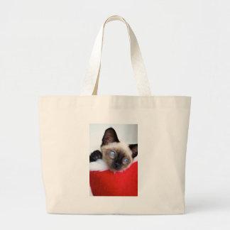 Christmas Kitten Jumbo Tote Bag