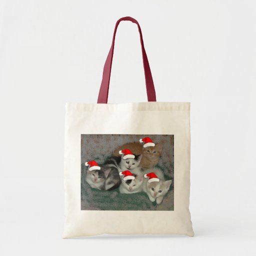 Christmas Kittens Canvas Bags