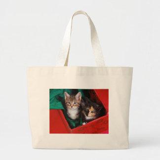 Christmas Kittens Large Tote Bag