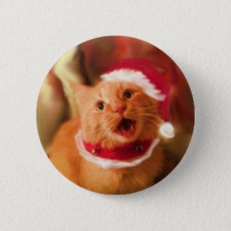 Christmas Kitties 1 6 Cm Round Badge