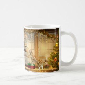 Christmas kitties and mouse coffee mug