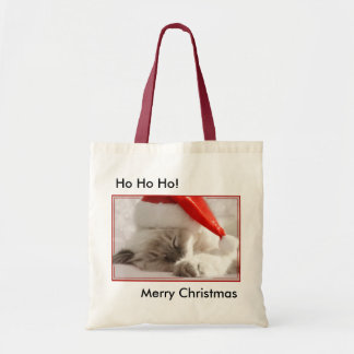 Christmas kitty bag