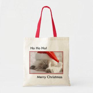 Christmas kitty bag