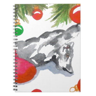 Christmas Kitty Cat Decorations Holiday Notebook