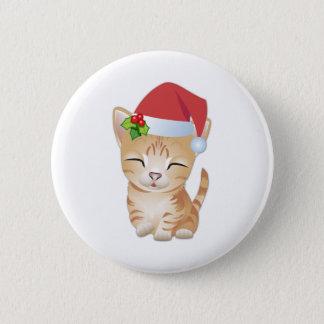 Christmas Kitty Cat Gift Pin Brooch