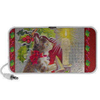 Christmas kitty, Cat on the table Mp3 Speakers