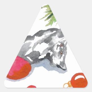 Christmas Kitty Cat Tree Holiday Stickers