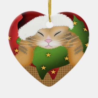 Christmas Kitty Christmas Ornament