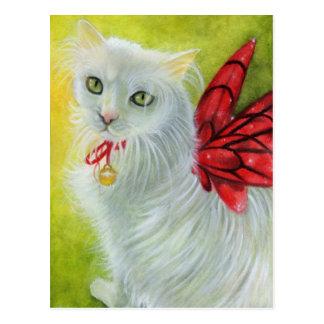 Christmas Kitty Crimson Wings Postcard
