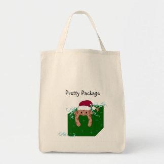 Christmas Kitty Grocery Tote Bag