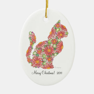 Christmas Kitty Ornament