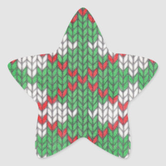 Christmas Knit Argyle Star Stickers