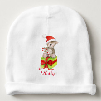 Christmas koala bear art personalized baby beanie