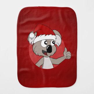 Christmas koala cartoon baby burp cloth