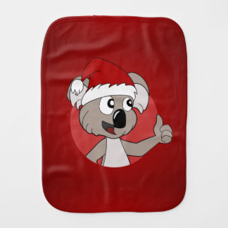 Christmas koala cartoon burp cloth