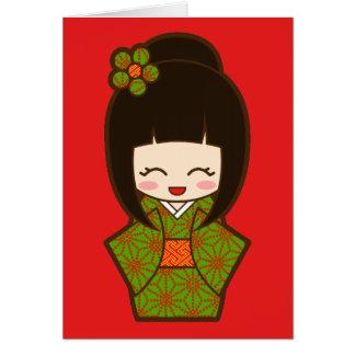 Christmas Kokeshi Card