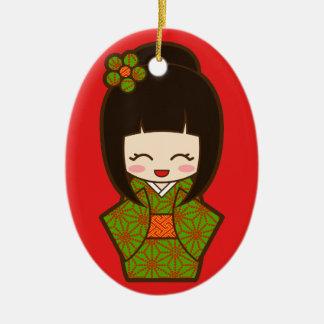 Christmas Kokeshi Christmas Ornament