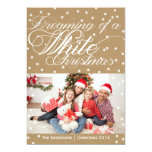 Christmas Kraft White Christmas Photo Card 13 Cm X 18 Cm Invitation Card