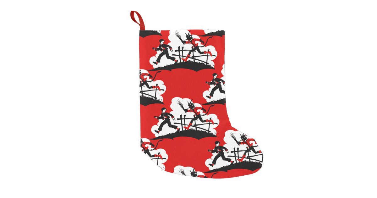 christmas krampus small christmas stocking | Zazzle.co.uk