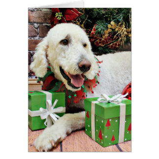 Christmas - LabraDoodle - Davis Greeting Cards